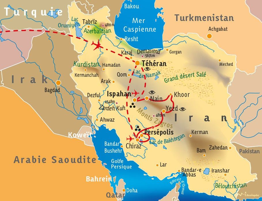 [KEY_MAP] - IRAN - L'Iran Moderne et la Perse Antique