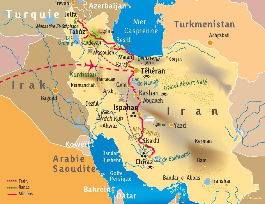 [KEY_MAP] - IRAN - Randonnée dans les montagnes persanes et Villes éternelles