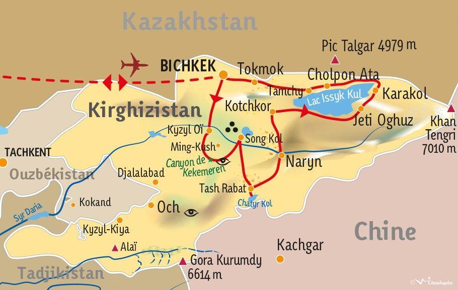 [KEY_MAP] - KIRGHIZISTAN - A la découverte du Kirghizistan