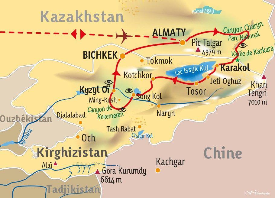 [KEY_MAP] - Kirghizistan-Kazakhstan - Au cœur de l'Asie Centrale