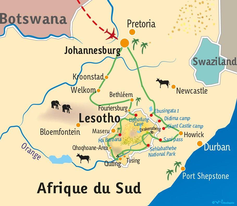 [KEY_MAP] - LESOTHO - AF-SUD - Mieux comprendre l'Art Rupestre au Lesotho