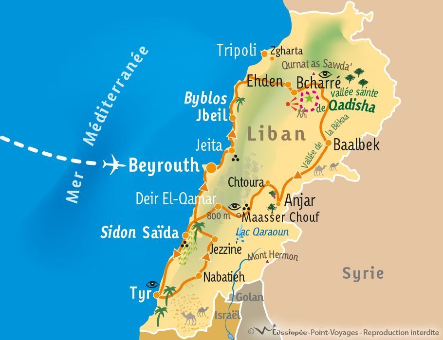 [KEY_MAP] - Liban - Vallée de Qadisha et merveilles du Liban - 12 jours