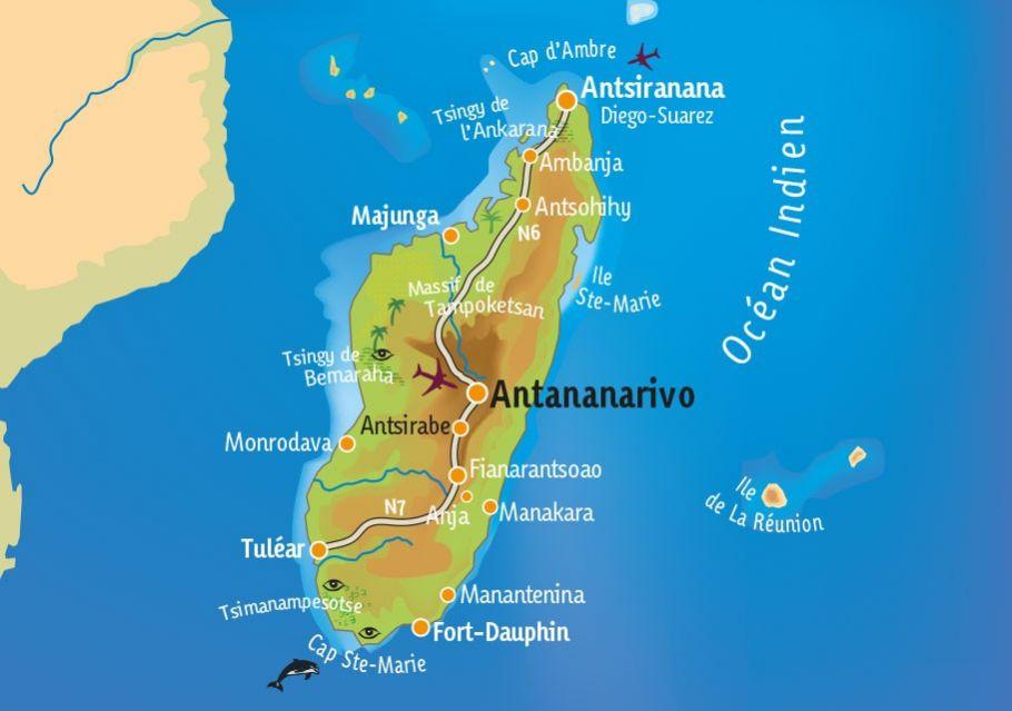[KEY_MAP] - Madagascar - Le nord de Mada : de Diego à Tana