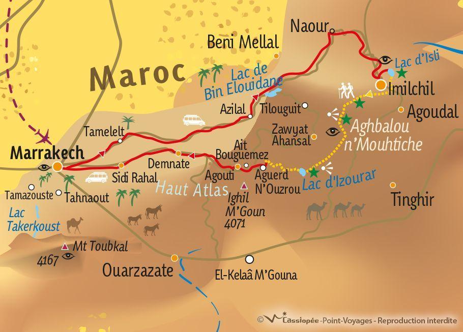 [KEY_MAP] - MAROC - Trek communautaire en pays berbère, d'Imilchil aux Aït Bougmez