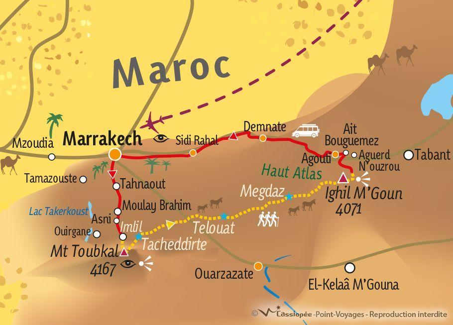 [KEY_MAP] - MAROC - Grande traversée de l'Atlas, du Toubkal au M'Goun