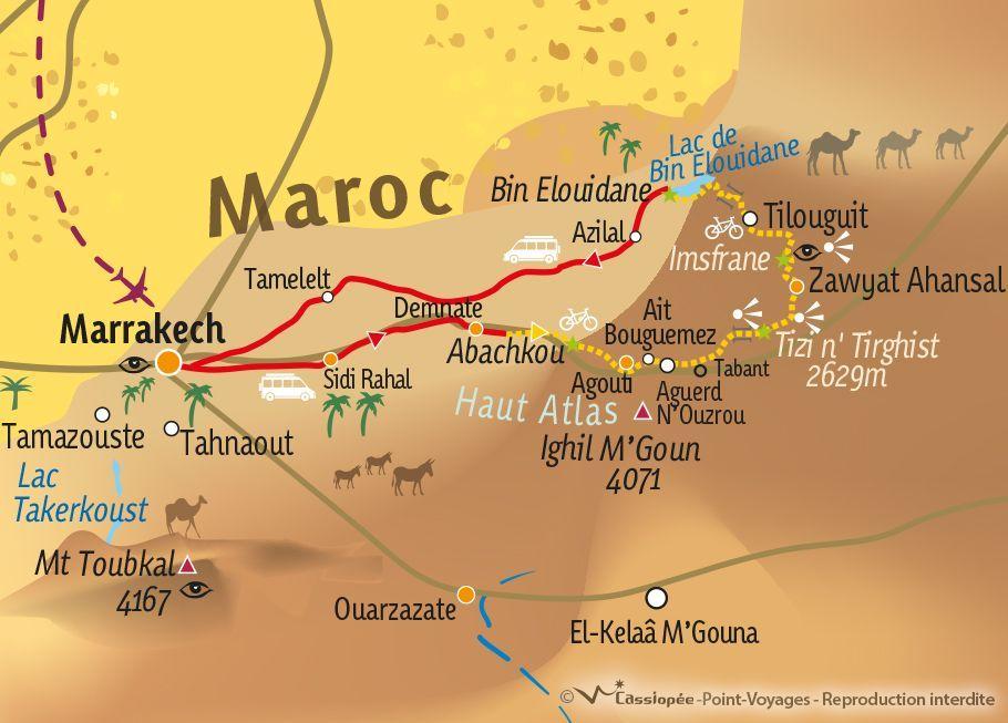 [KEY_MAP] - MAROC - Le Haut Atlas marocain à VTT