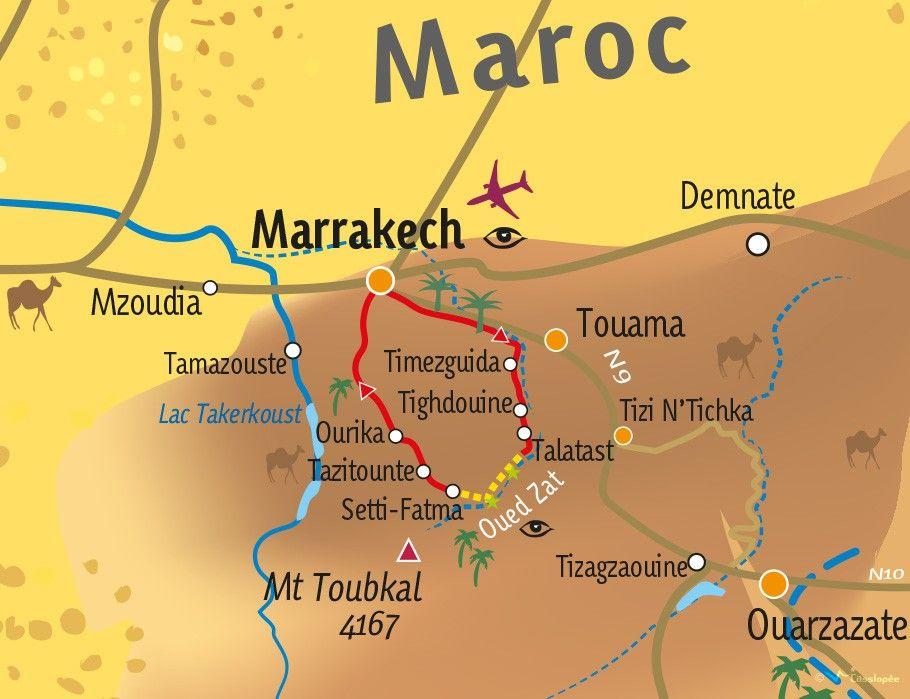 [KEY_MAP] - MAROC - Mini-Trek dans les gorges de l'Oued Zat