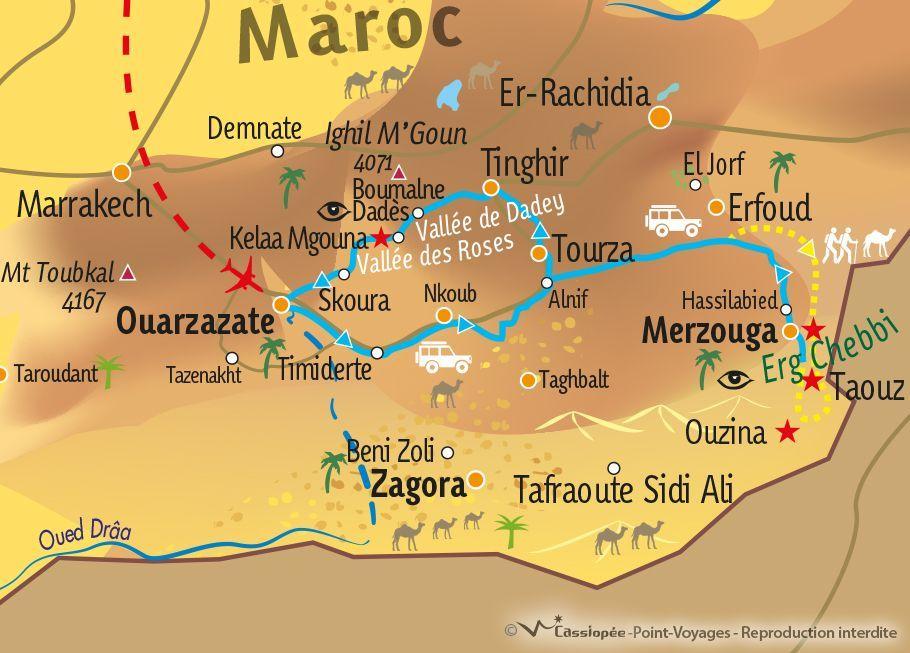 [KEY_MAP] - MAROC - Erg Chebbi et Merzouga en rando chamelière