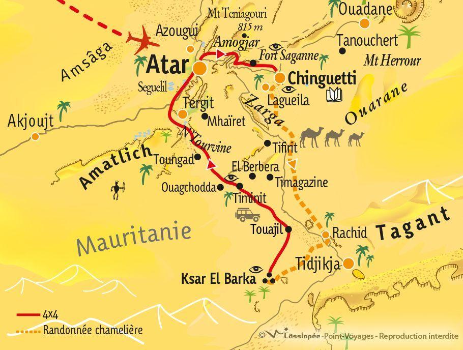 [KEY_MAP] - Mauritanie - De l'Adrar au Tagant en méharée