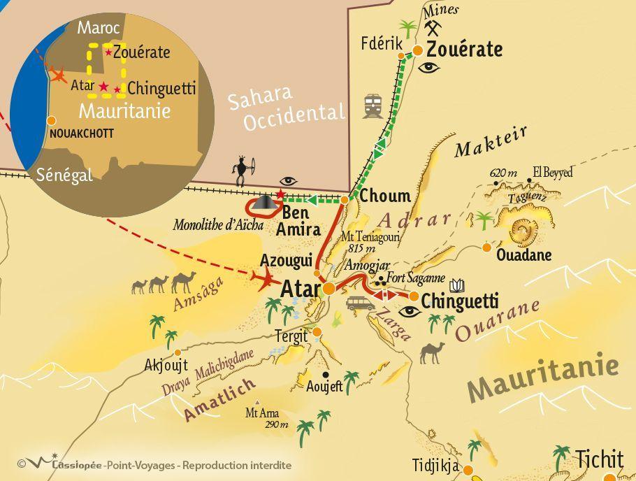 [KEY_MAP] - Mauritanie - Le Train du Désert
