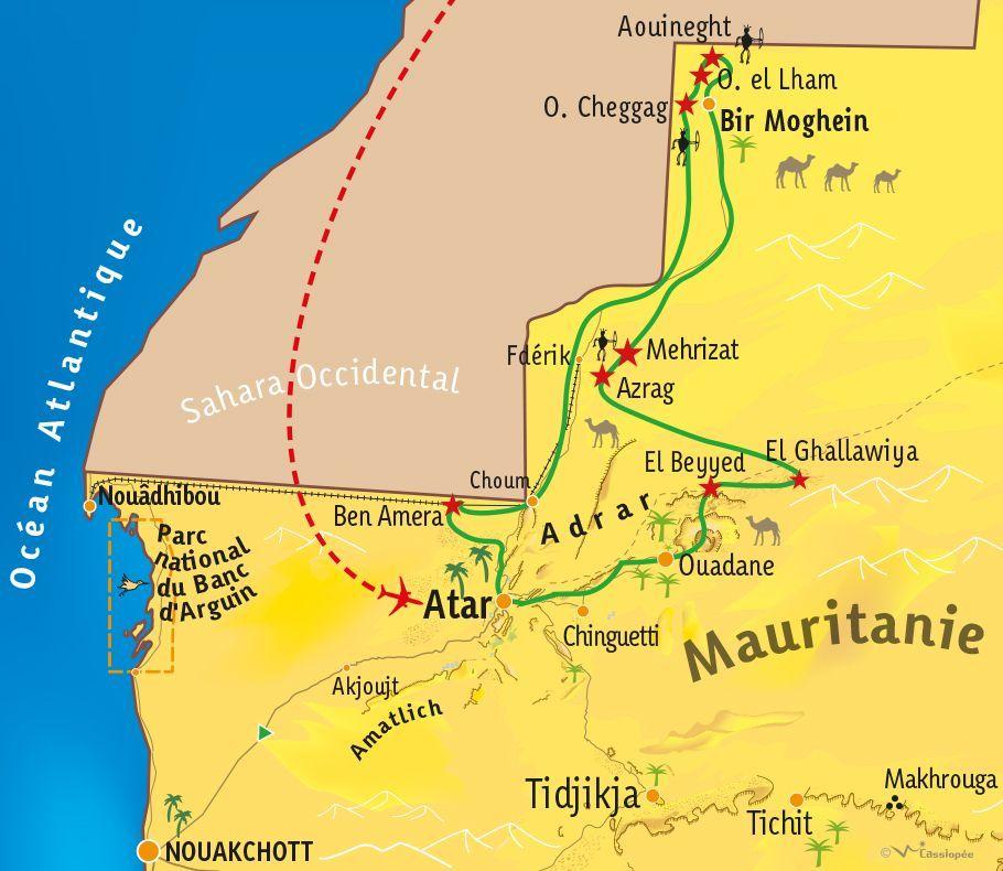 [KEY_MAP] - MAURITANIE - Exploration Rupestre en Mauritanie