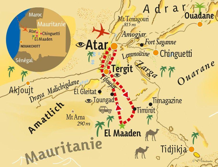[KEY_MAP] - MAURITANIE - Désert et Rencontres agroécologiques en Mauritanie