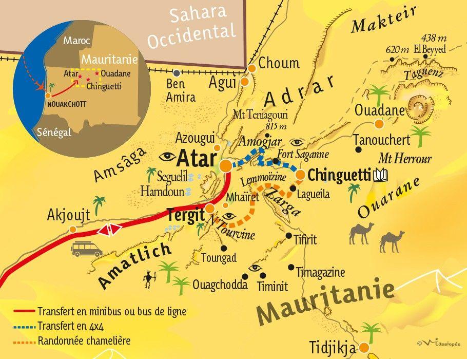 [KEY_MAP] - MAURITANIE - Les merveilles de l'Adrar en randonnée