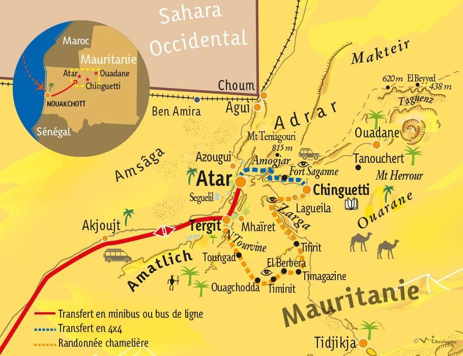 [KEY_MAP] - Mauritanie - Grande traversée de la Vallée Blanche