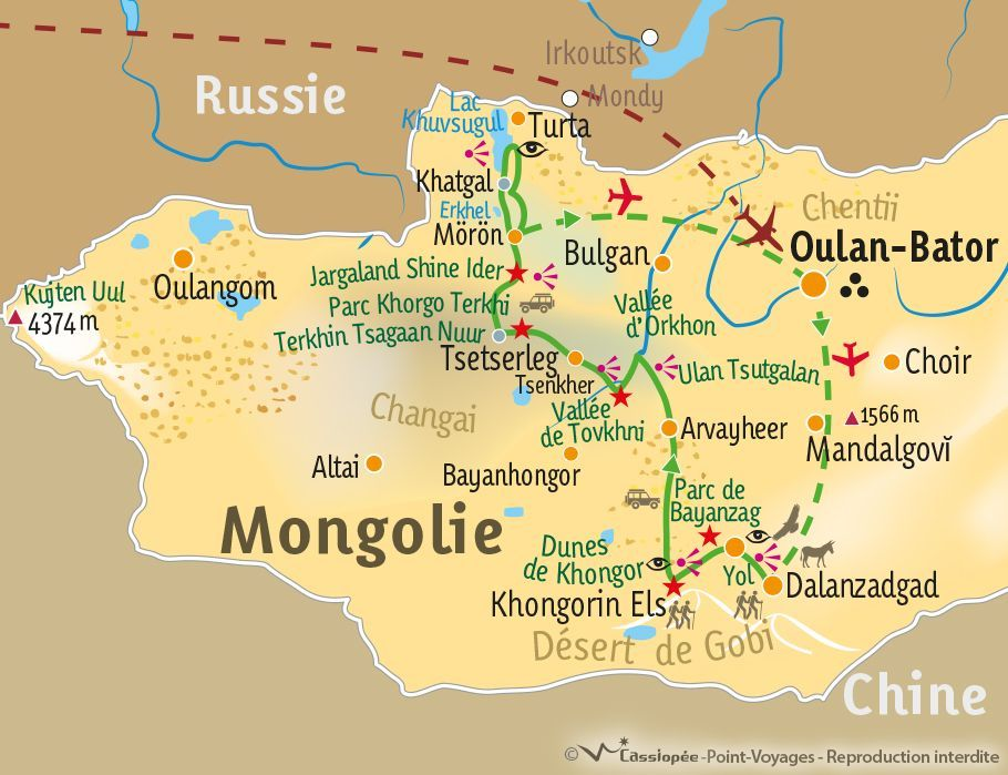 [KEY_MAP] - Mongolie - Grand tour de la Mongolie du Sud au Nord