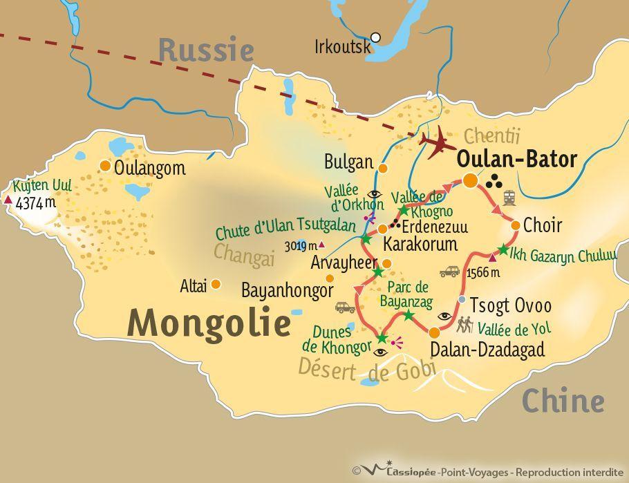 [KEY_MAP] - Mongolie - Découverte de la Mongolie centrale au désert de Gobi