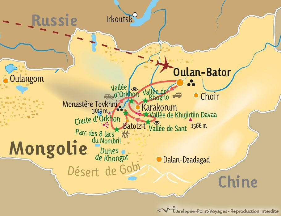 [KEY_MAP] - Mongolie - Randonnée des steppes