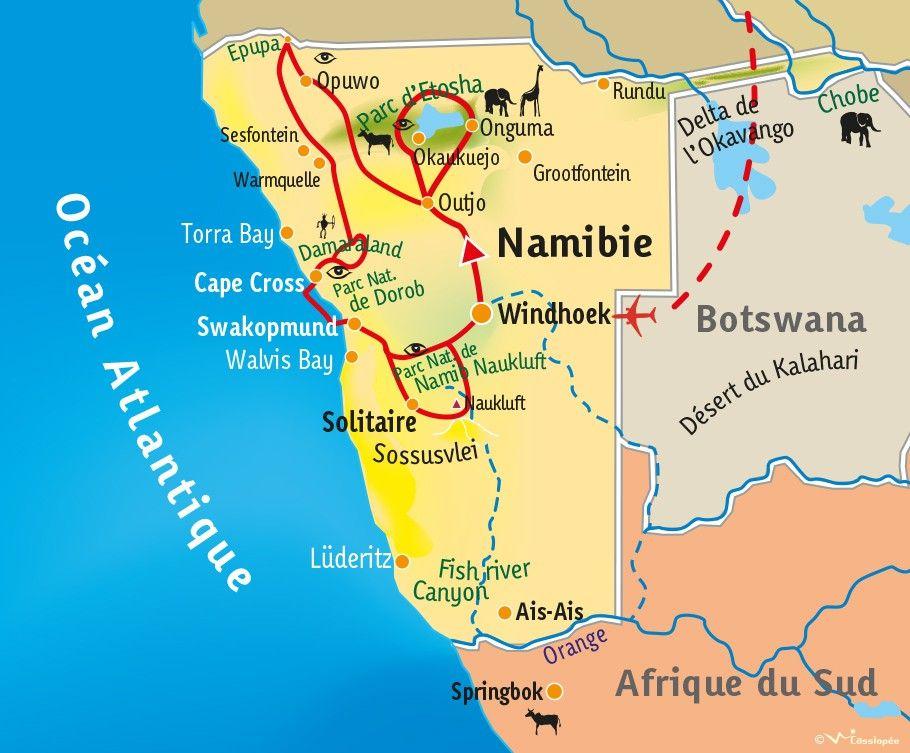 [KEY_MAP] - Namibie - Kaléidoscope Namibien
