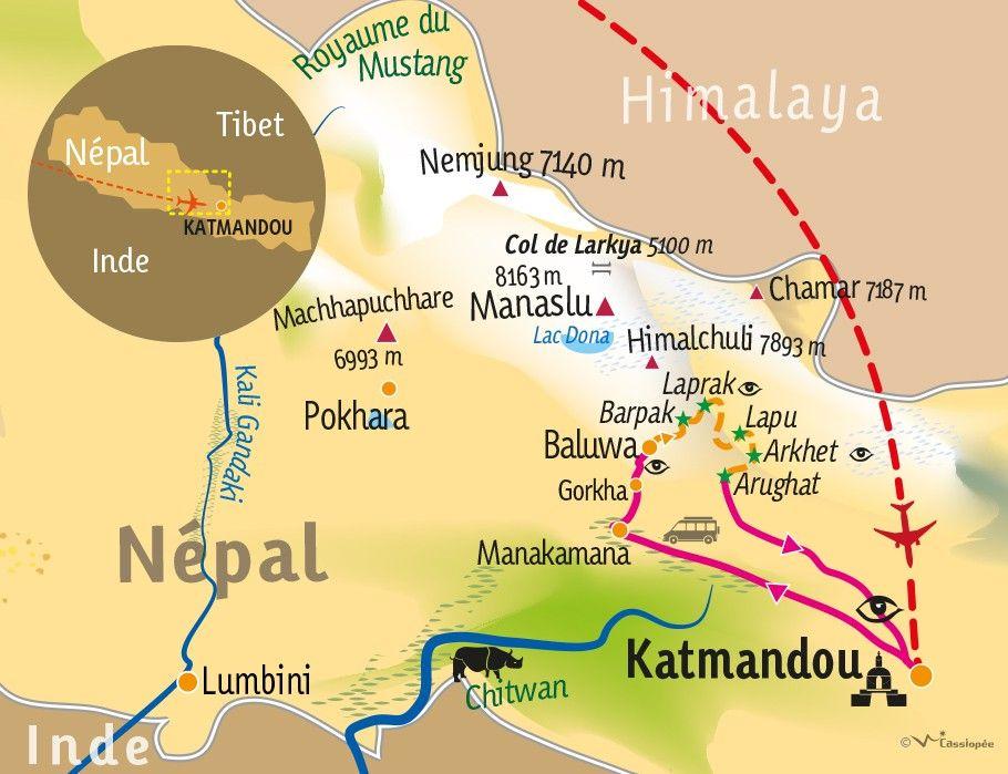 [KEY_MAP] - Népal - Trek communautaire en pays Gurung