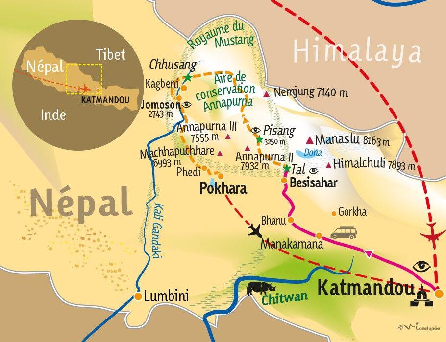 [KEY_MAP] - Népal  - Grand tour des Annapurnas