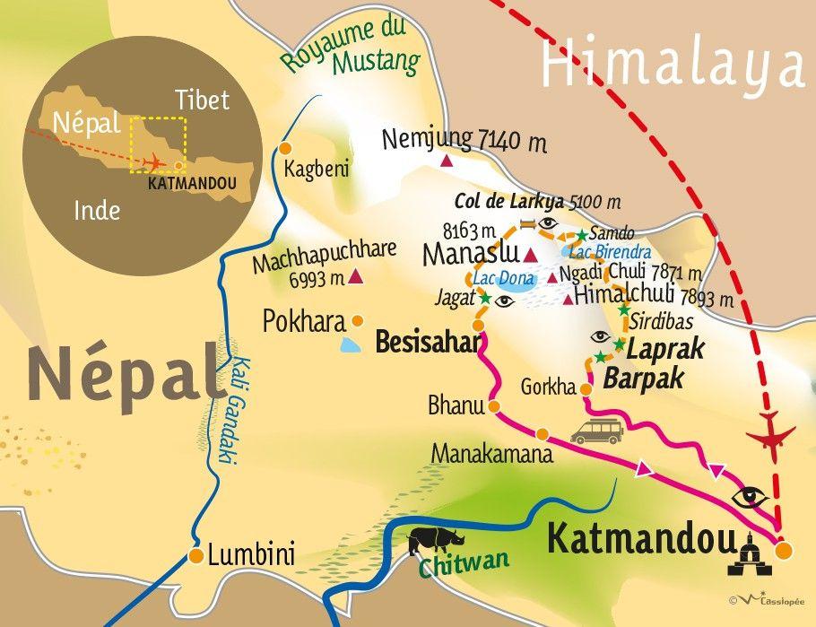 [KEY_MAP] - Népal - Grand tour du Manaslu