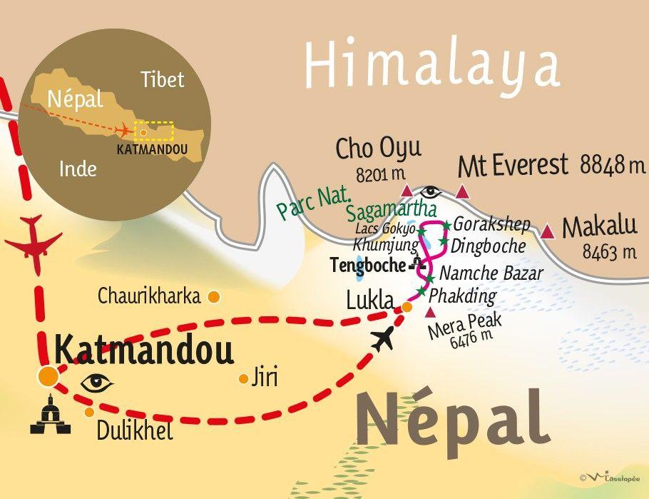 [KEY_MAP] - Népal  - Lacs Gokyo,Cho la et Kala Pattar