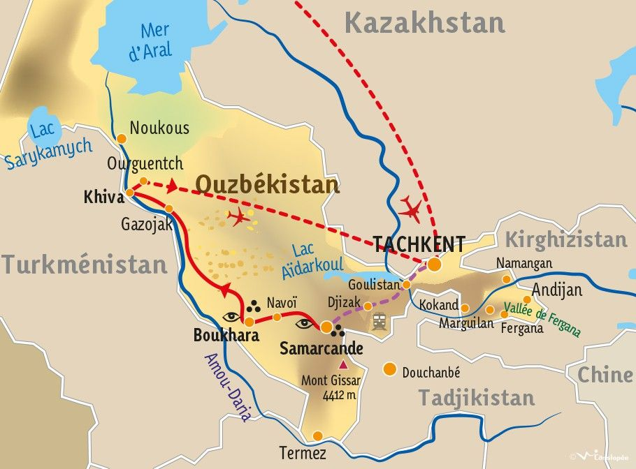 [KEY_MAP] - OUZBEKISTAN - Il était un fois les Mille et Une nuits