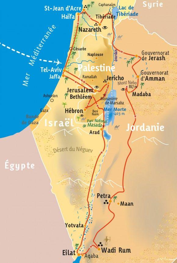 [KEY_MAP] - ISRAËL/PALESTINE/JORDANIE - De la Terre Sainte aux Cités Nabatéennes