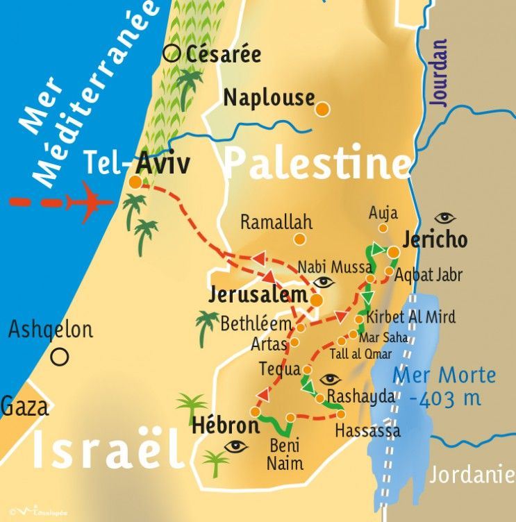 [KEY_MAP] - PALESTINE - Le Sentier d'Abraham - en 8 jours