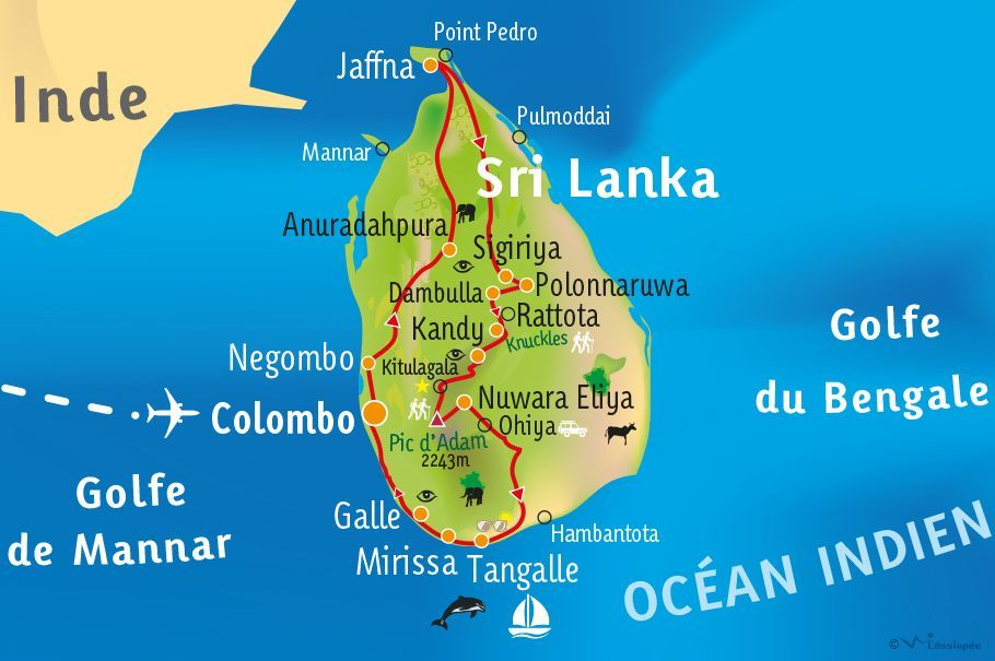 [KEY_MAP] - SRI LANKA - Le grand tour du Sri Lanka