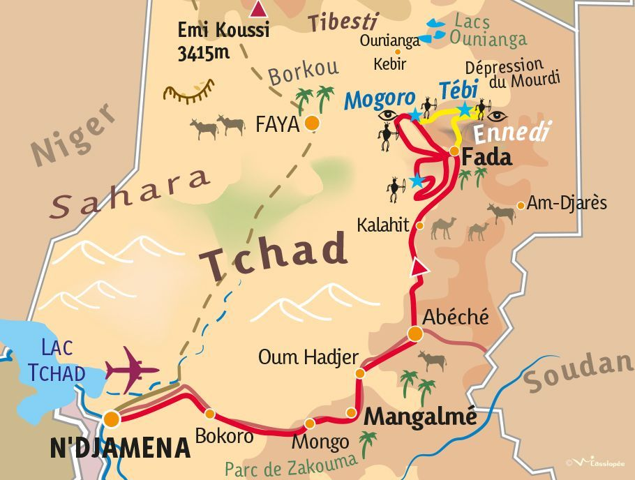[KEY_MAP] - TCHAD - Exploration rupestre dans l'Ennedi