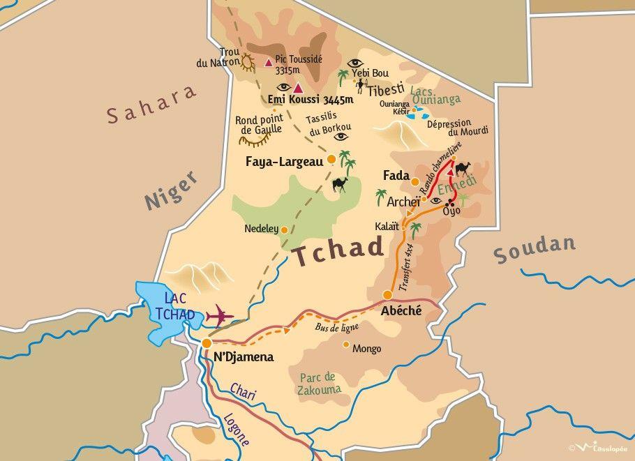 [KEY_MAP] - TCHAD - Grande Traversée de l'Ennedi