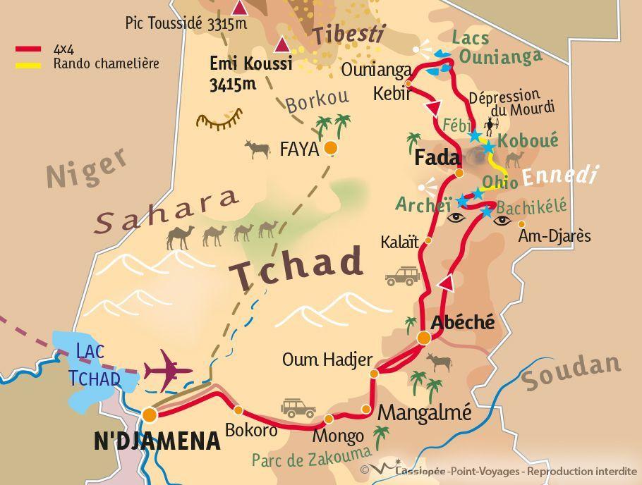 [KEY_MAP] - Tchad - De la Guelta d'Archeï au Gouffre de Koboué