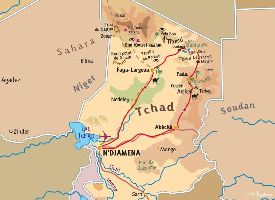 [KEY_MAP] - TCHAD - Les Lacs d'Ounianga ou l'Ennedi ? Les deux !