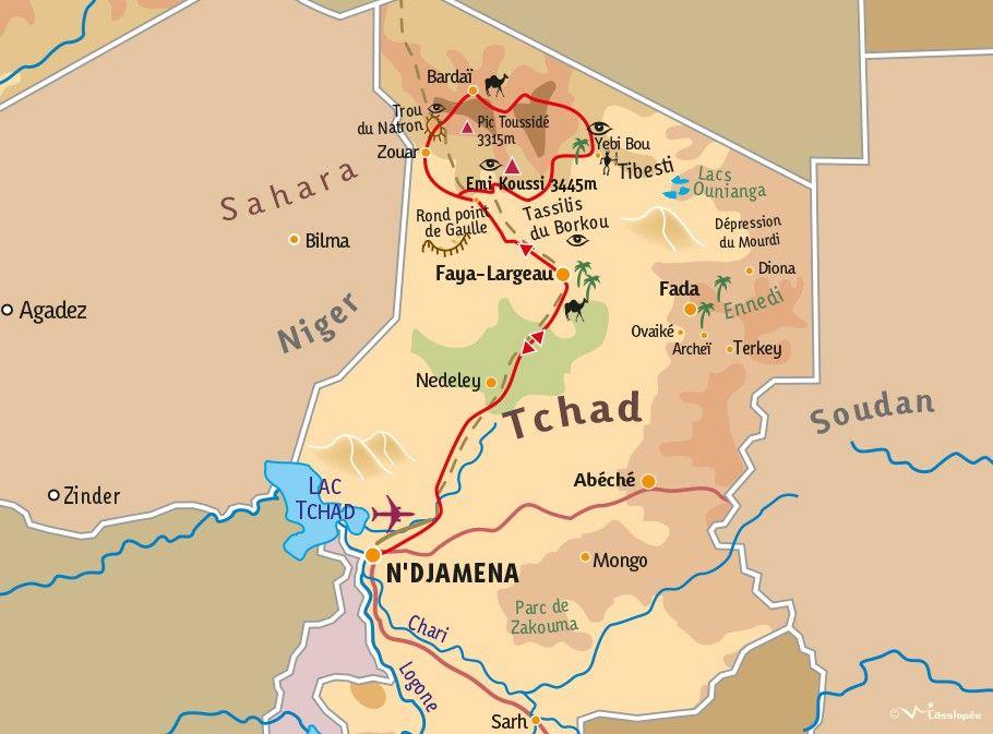 [KEY_MAP] - TCHAD - Le Tibesti, le trou du natron et Bardaï