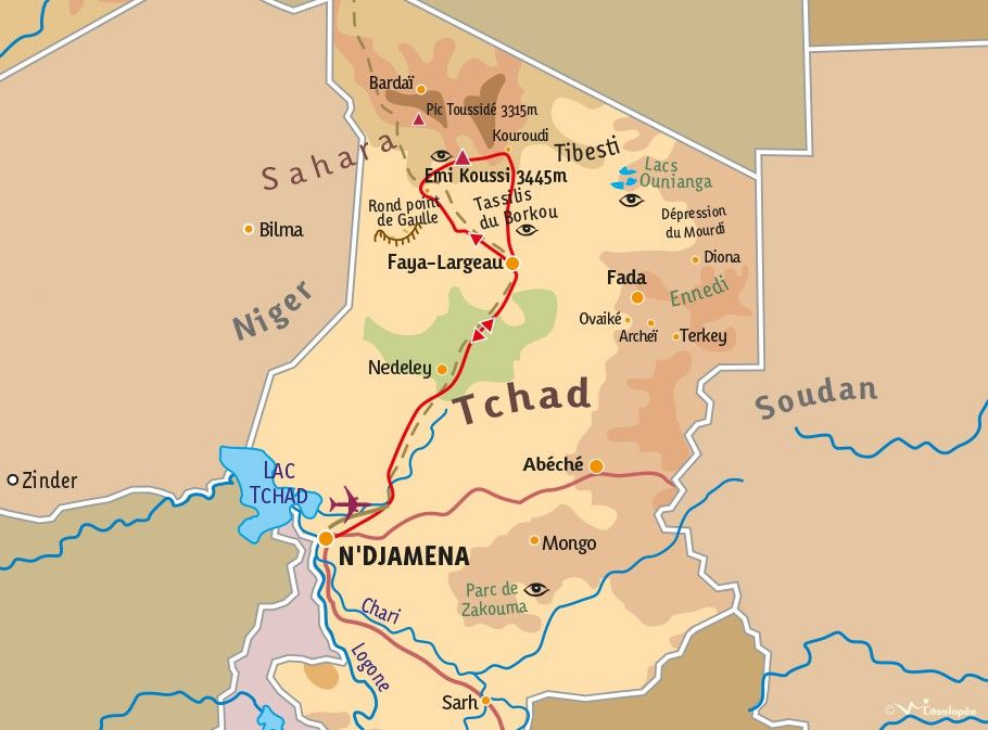 [KEY_MAP] - TCHAD - Trek dans le Massif de l'Emi Koussi