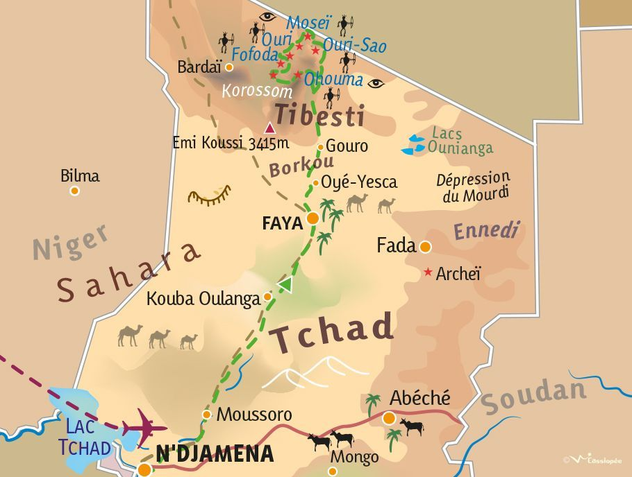 [KEY_MAP] - TCHAD - Exploration Rupestre au Tibesti
