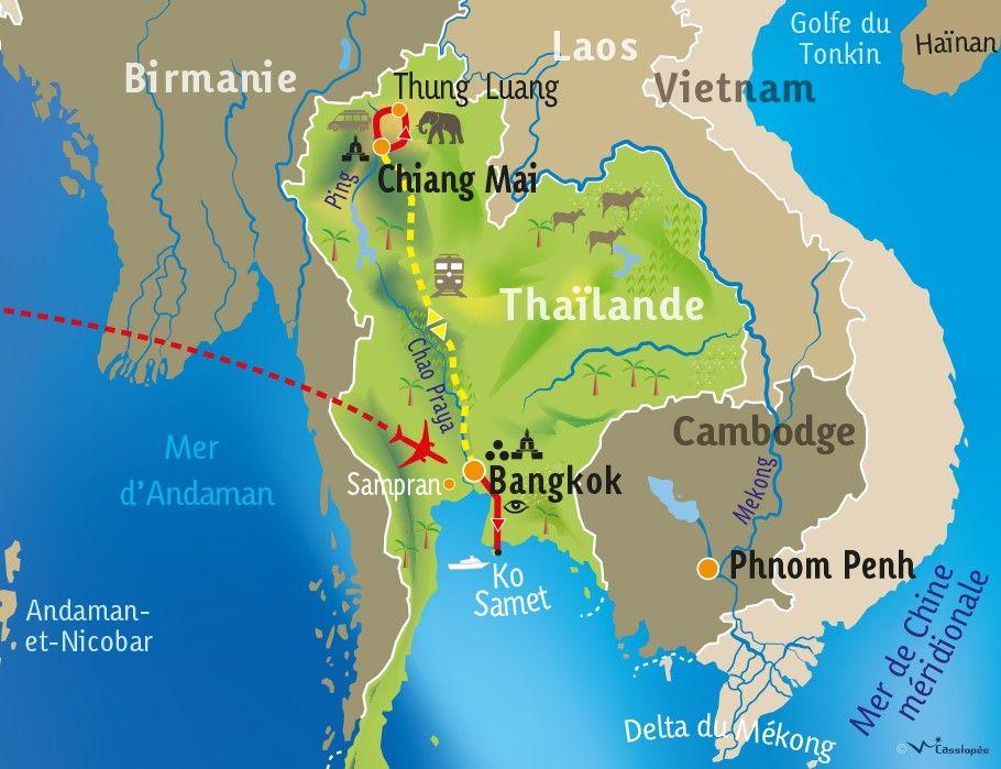[KEY_MAP] - THAILANDE - Des hommes, des îles et des éléphants