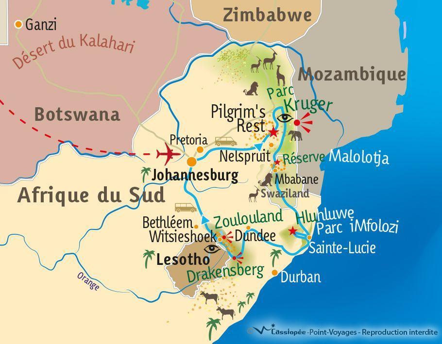 [KEY_MAP] - AFRIQUE DU SUD - Trek sud-africain