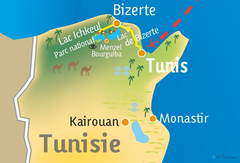[KEY_MAP] - TUNISIE - Week-end ornithologique dans le Parc National d'Ichkeul