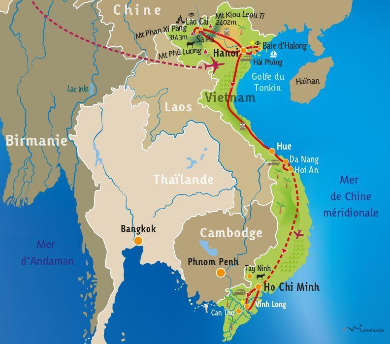 [KEY_MAP] - VIETNAM - Le Vietnam du Nord au Sud !