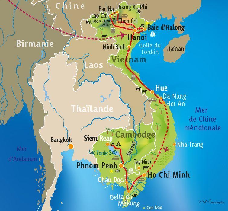 [KEY_MAP] - VIETNAM / CAMBODGE - Le meilleur du Vietnam et du Cambodge